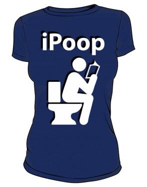 Koszulka damska granatowa iPoop