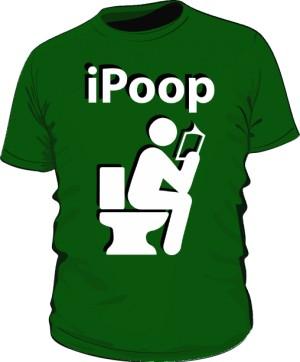 Koszulka męska zielona iPoop