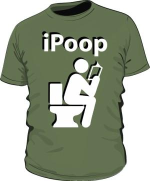 Koszulka męska khaki iPoop