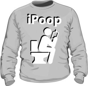Bluza męska szara iPoop