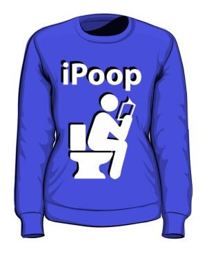 Bluza damska niebieska iPoop