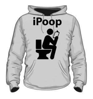 Bluza meska z kapturem szara iPoop