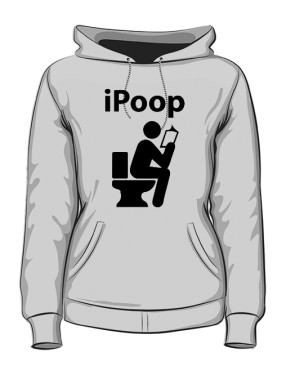Bluza damska z kapturem szara iPoop