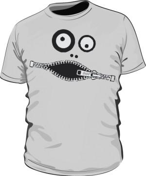 Koszulka męska szara Zipface
