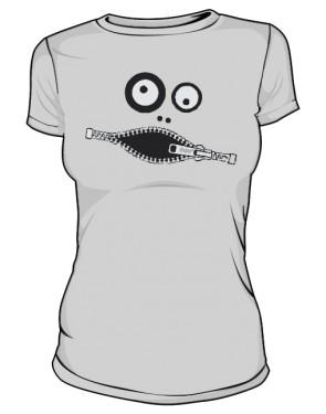 Koszulka damska szara Zipface