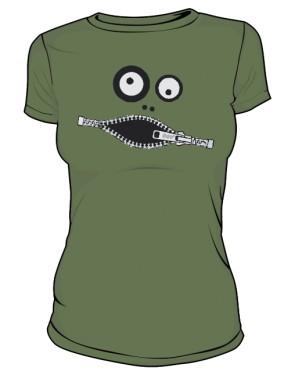 Koszulka damska khaki Zipface