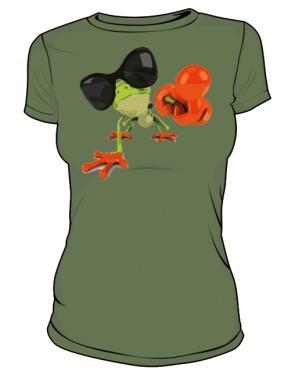 Koszulka damska khaki Frog