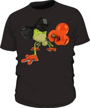 Koszulka męska czarna Frog