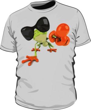 Koszulka męska szara Frog