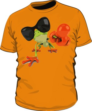 Koszulka męska pomarańczowa Frog