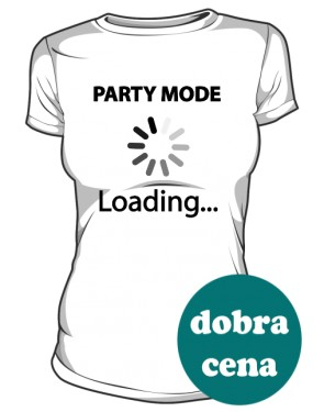 Koszulka damska biała Party mode