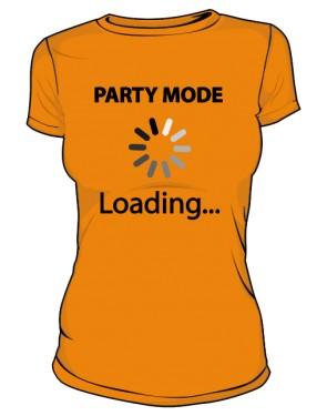 Koszulka damska pomarańczowa Party mode