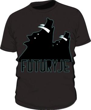 T shirt Futuryje czarny
