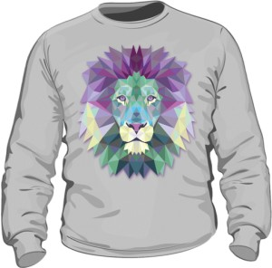 bluza bez kaputa z motywem lwa