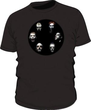 Koszulka czarna męska Rammstein faces