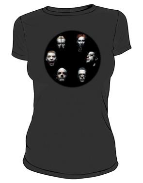 Koszulka czarna damska Rammstein faces