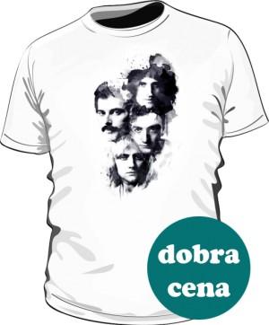 Koszulka męska biała Queen faces