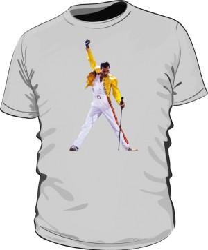 Koszulka męska szara Freddie Mercury