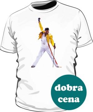 Koszulka męska biała Freddie Mercury