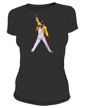 Koszulka damska czarna Freddie Mercury