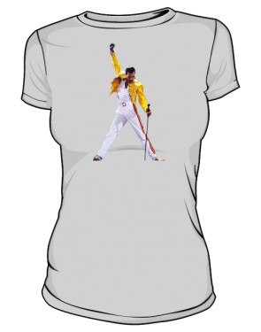 Koszulka damska szara Freddie Mercury