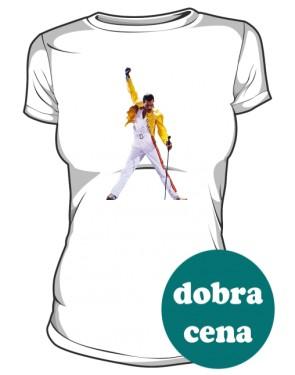 Koszulka damska biała Freddie Mercury