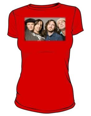 Koszulka czerwona damska RHCP
