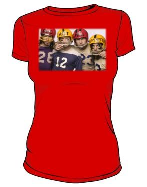Koszulka czerwona damska RHCP gracze