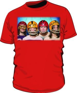 Koszulka czerwona męska RHCP gracze 2