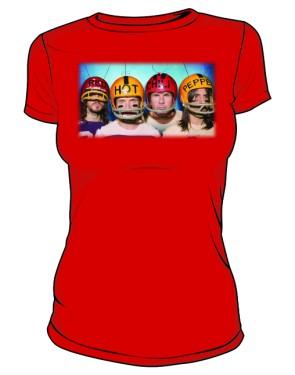 Koszulka czerwona damska RHCP gracze 2