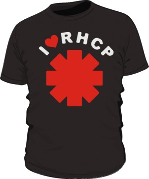 Koszulka męska czarna I love RHCP