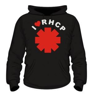 Bluza z kap męska czarna I love RHCP