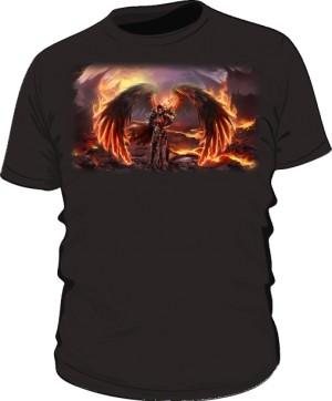 Koszulka czarna męska Anioł Śmierci