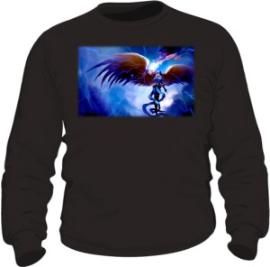 Bluza czarna męska Anioł w zbroi