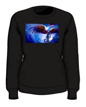 Bluza czarna damska Anioł w zbroi