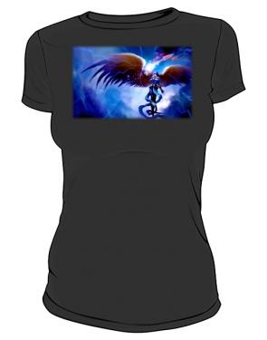 Koszulka czarna damska Anioł w zbroi