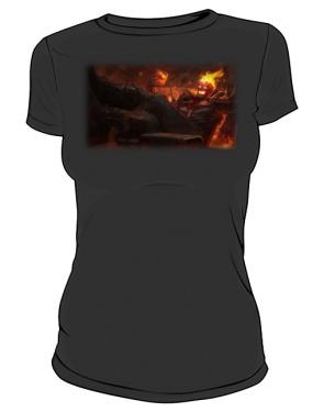 Koszulka czarna damska Brand