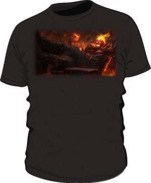 Koszulka czarna męska Brand