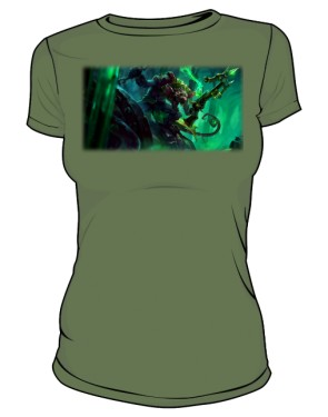 Koszulka khaki damska Twitch