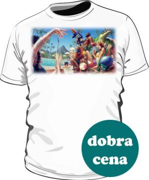Koszulka biała męska Pool party
