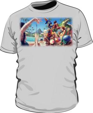 Koszulka szara męska Pool party
