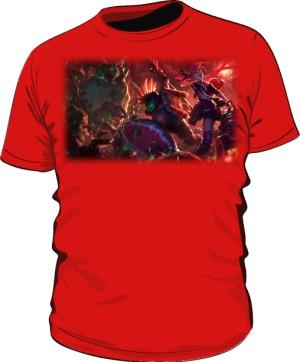Koszulka czerwona męska Zombie slayer