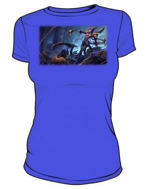 Koszulka niebieska damska Elise