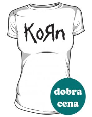 Koszulka damska biała Korn