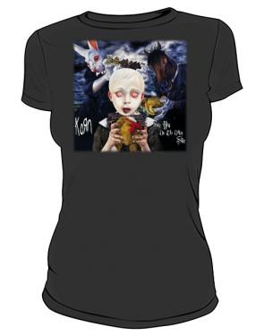 Koszulka damska czarna Korn Other side
