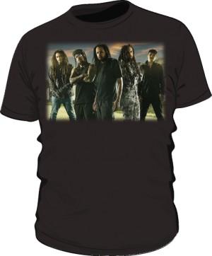 Koszulka męska czarna Korn band