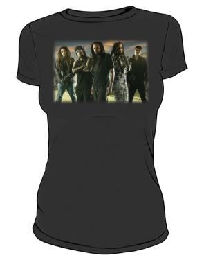 Koszulka damska czarna Korn band