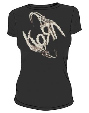 Koszulka damska czarna Korn logo