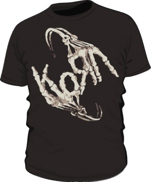 Koszulka męska czarna Korn logo