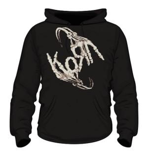 Bluza z kapturem męska czarna Korn logo